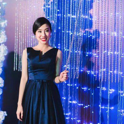 ชุดแต่งงาน ชุดออกงาน ชุดราตรี ให้เช่า สวย สีน้ำเงิน