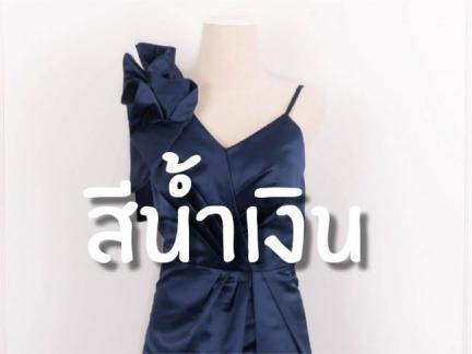 ชุดราตรีธีมสีน้ำเงิน (Midnight Blue)